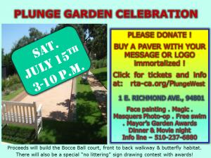 Plunge Garden Celebration @ Richmond Plunge Garden   Richmond   California   United States