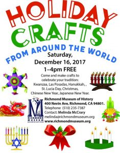 Holiday Crafts from Around the World @ Richmond Museum of History