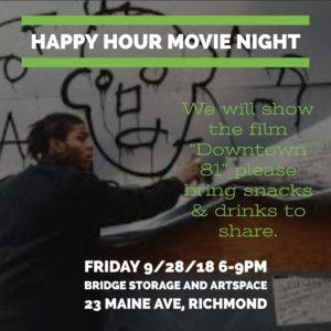 Happy Hour Movie Night at Bridge @ Bridge Storage and ARTSpace | Richmond | CA | US