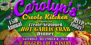 Creole Garlic Grab Dinner - Andre Thierry!! @ Riggers Loft Wine Company | Richmond | California | United States
