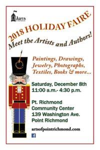Arts of Point Richmond 2018 Holiday Faire @ Point Richmond Community Center | Richmond | California | United States