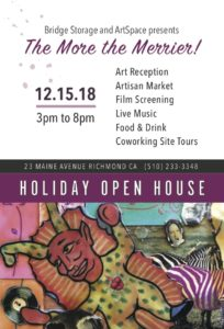 The More the Merrier: Holiday Fair and Open House @ Bridge Storage and ArtSpace | Richmond | California | United States