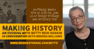 Making History: A Conversation with Betty Reid Soskin at Bridge Storage and ArtSpace @ Bridge Storage and ArtSpace   Richmond   California   United States