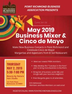 Cinco de Mayo - Business Mixer on 5/2/19: Point Richmond Business Association @ Beauty By Nature Hair Studio | Richmond | California | United States